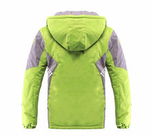 Rear view of the Winter Jacket with fully insulated Hood