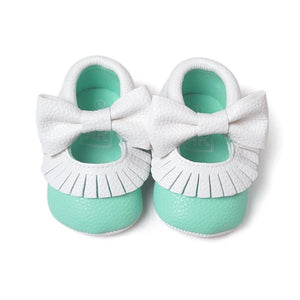 First Walker Baby Girls Shoes in Sky Blue and White