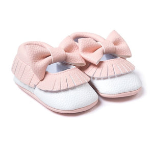 First Walker Baby Girls Shoes in White and Pink
