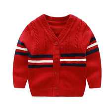 Top quality Cotton Cardigan Sweater in Red