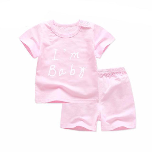 T Shirt and Shorts Set in Pink