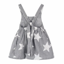 Striped Star Backless Summer Style Baby Girls Dress back