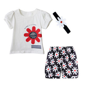 Clothes Set Hat T-Shirt & Pants in White
