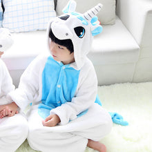 Blue Unicorn Onesie with Long Sleeves