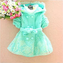 Spring Jacket For Girls with Hood in Sky Blue Lace