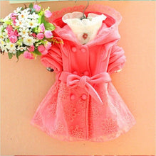 Spring Jacket For Girls with Hood in Pink Lace