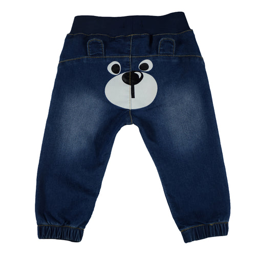 Boys & Girls Blue Baby Soft Harem Style Warm Winter Denim Pants