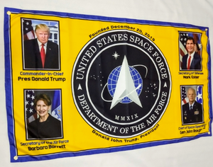 Official Space Force Flag 5'x3'