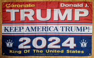 Coronate King Trump Flag 5'x3'