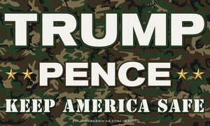 Camouflage Trump Pence Flag 5'x3'