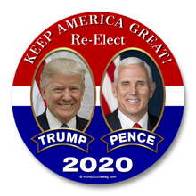 "(100 Ct.) Trump Pence 2020 3"" Buttons"
