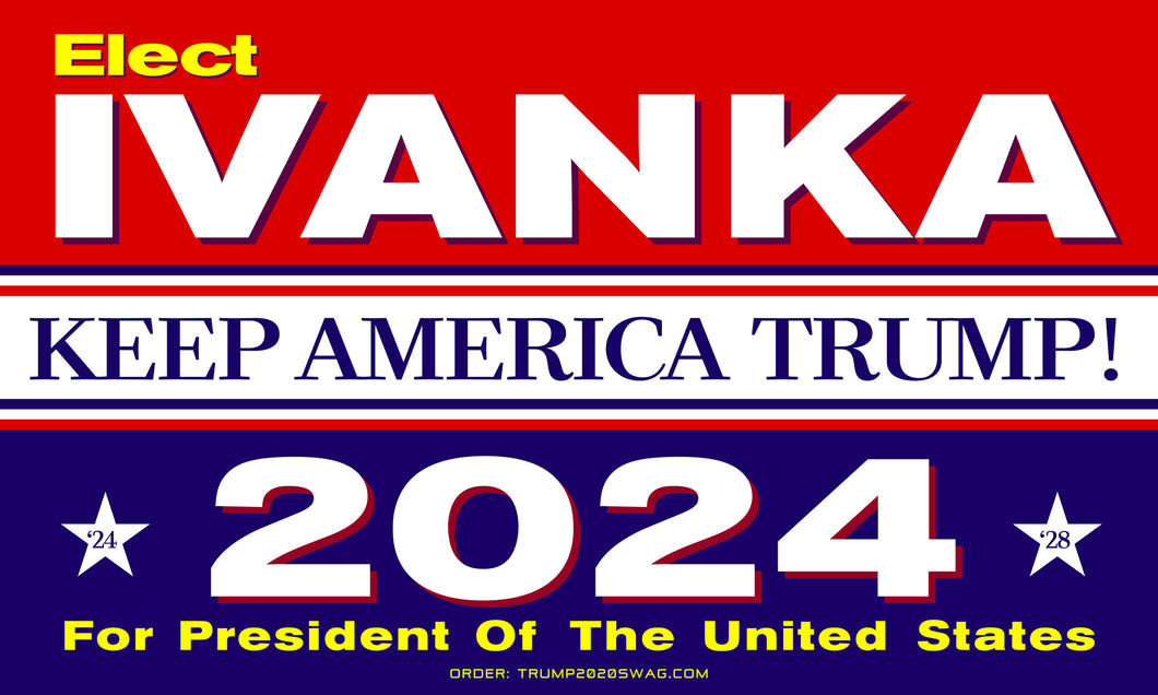 Official Ivanka 2024 Flag 5'x3'