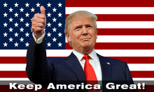Giant Trump 2020 USA Flag 16'x10'