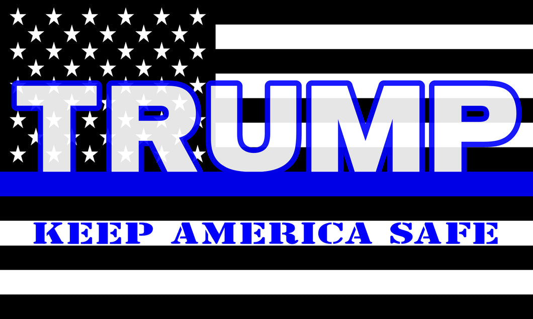 Thin Blue Trump Flag 5'x3'