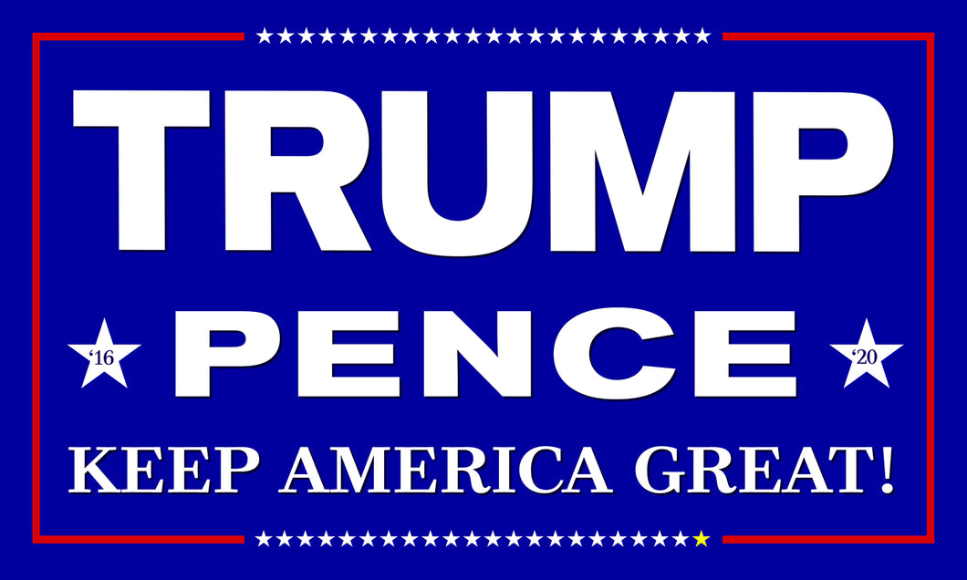 Official Trump Pence Flag Blue 5'x3'