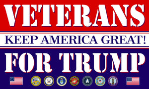 Official Veterans For Trump Flag 5'x3'