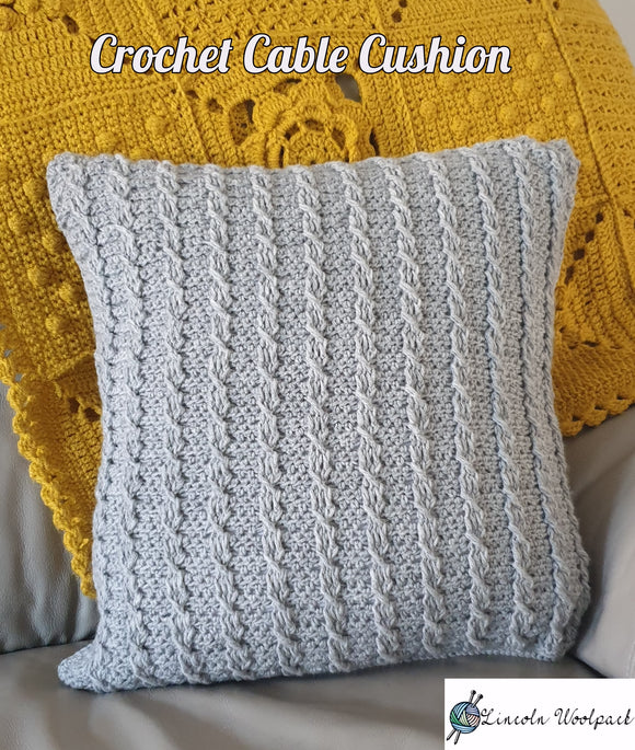 Crochet Cable cushion