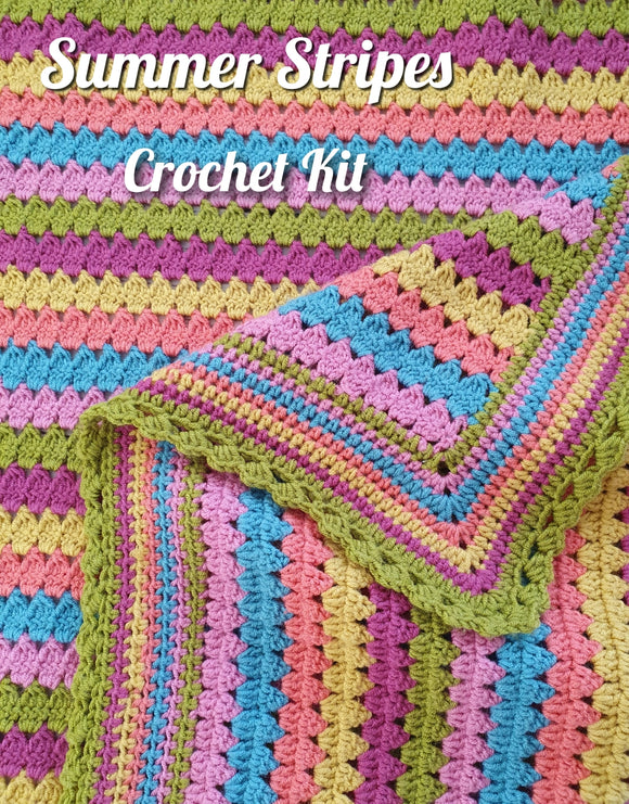 summer stripes crochet kit