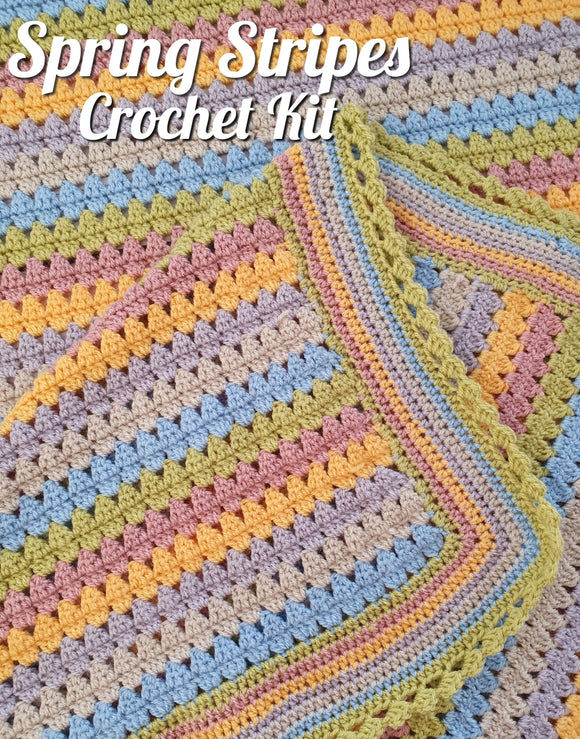 spring stripes stylecraft special dk crochet kit