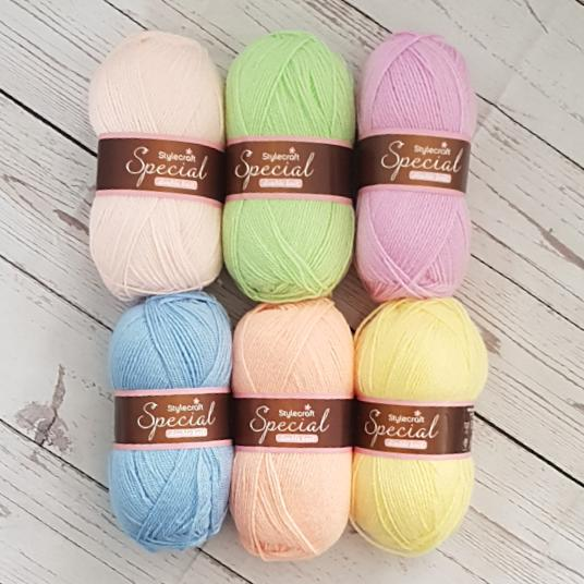 Styelcraft Special dk pastel yarn pack