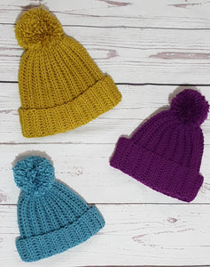 Ribbed Bobbe hat crochet pattern