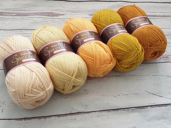 stylecraft special dk yarn pack - yellow ombre