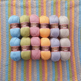 stylecraft special dk - spring stripes blanket - crochet kit