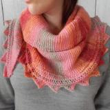 Head Over Heels Pink Shawl Pattern