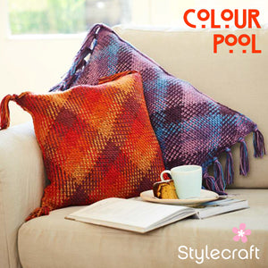 Stylecraft Colour Pool Cushion Pattern