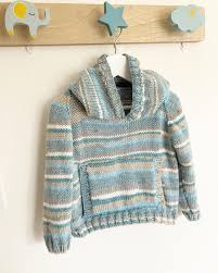 Cygnet Pure Baby Prints DK Hooded Sweater Knitting Pattern