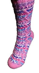 Cygnet Truly Wool Rich 4 ply and Prints Zigzag Socks Knitting Pattern