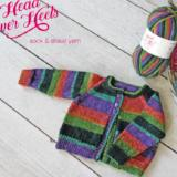 Head Over Heels Baby Cardigan knitting pattern
