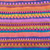 Indian Summer Crochet kit - close up