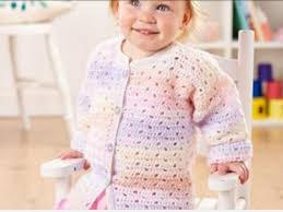 Kiddies Kaleidoscope DK Crocheted Cardigan