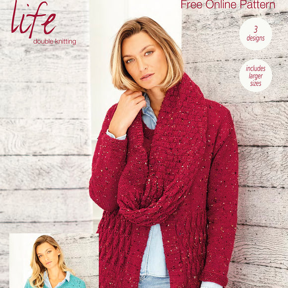 Stylecraft Cardigans and Snood in Life DK Tweed Knitting Pattern