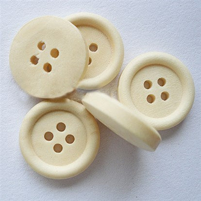 25mm wooden buttons