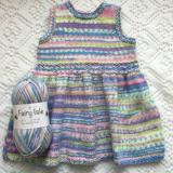 Cygnet yarns fairy isle Tilly dress free knitting pattern