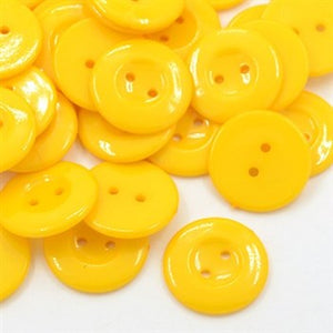 gold 25mm plastic buttons
