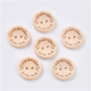 handmade with love 25mm buttons