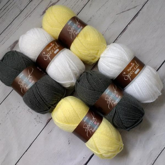 Stylecraft Special DK - Lemon and Grey Yarn Pack