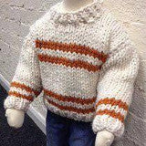 seriously chunky striped jumper knitting pattern