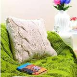Seriously Chunky Luxury Cable Throw and Cushion
