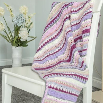 shades of purple thow crochet kit