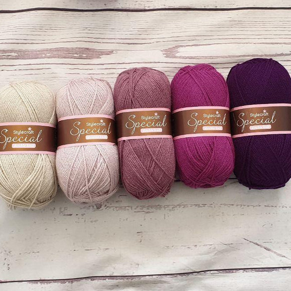 Stylecraft Special DK - Berry Ombre Yarn Pack