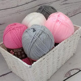 Stylecraft Special DK - Girls Pink and Grey Yarn Pack