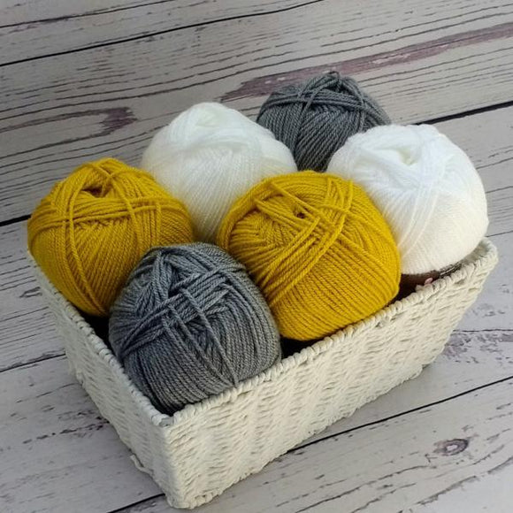 Stylecraft Special DK - Mustard and Grey Yarn Pack