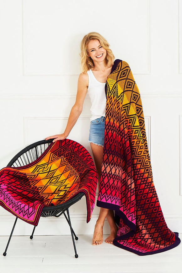 Queen Blanker CAL - stylecraft tequila sunrise