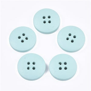 Turquoise 20mm 4 hole button