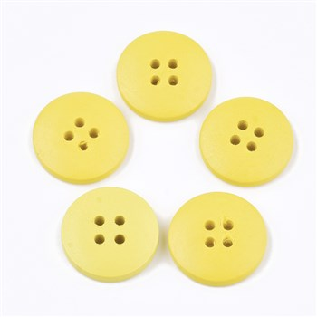 Yellow 20mm Wooden Button