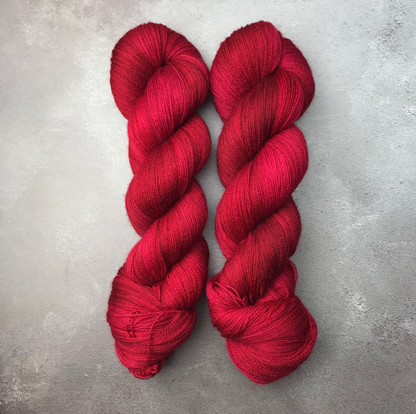 Oddball #136 Intense Red Merino Lace
